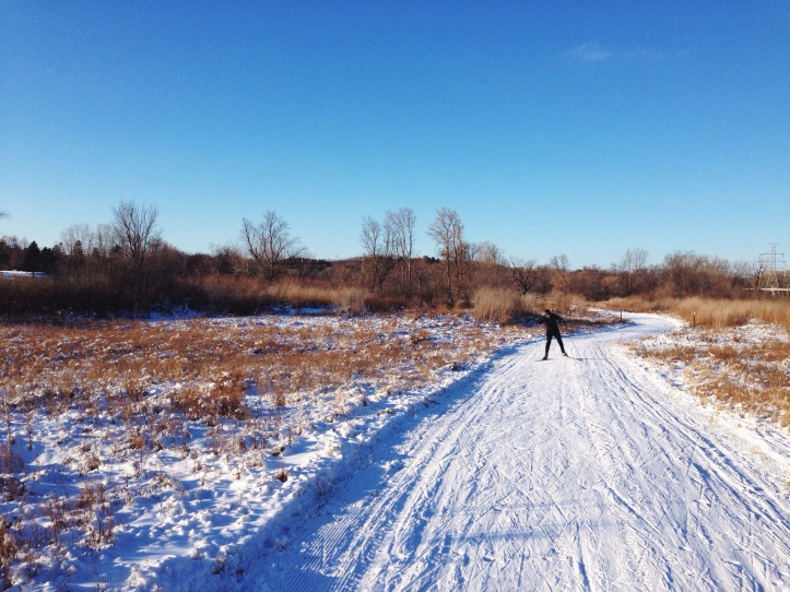 Andy tearing up the icy trails.